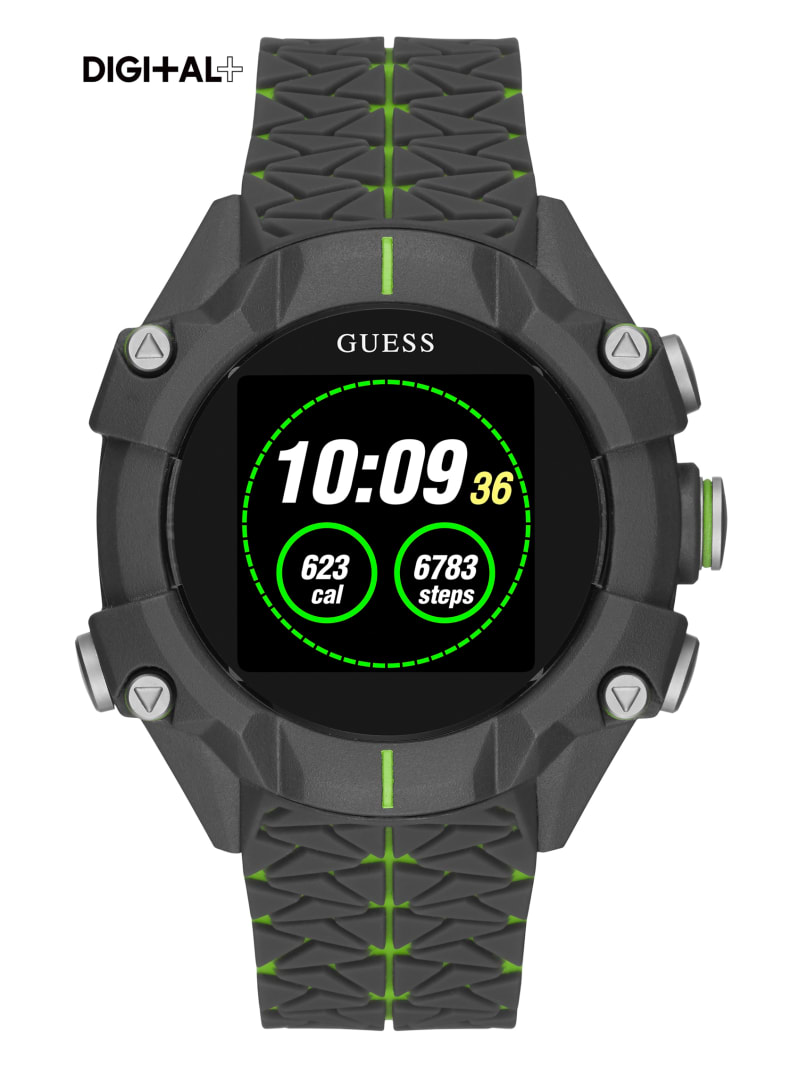 Black and Green Digital Watch