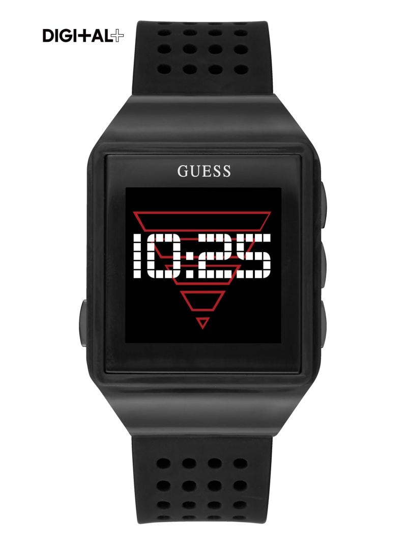 Black Logo Digital Watch