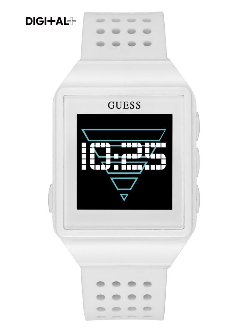 White Logo Digital Watch