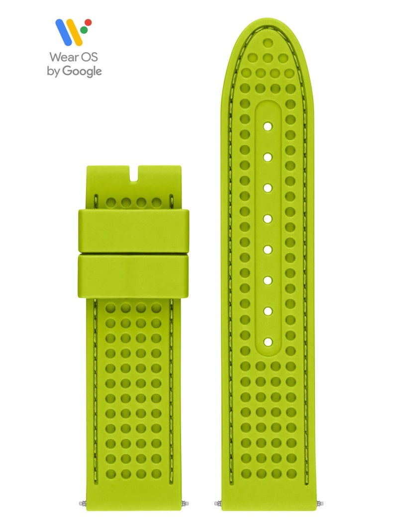 44mm Green Textured Silicone GUESS Connect Smartwatch Strap
