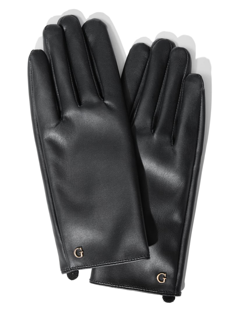 Faux-Leather Gloves