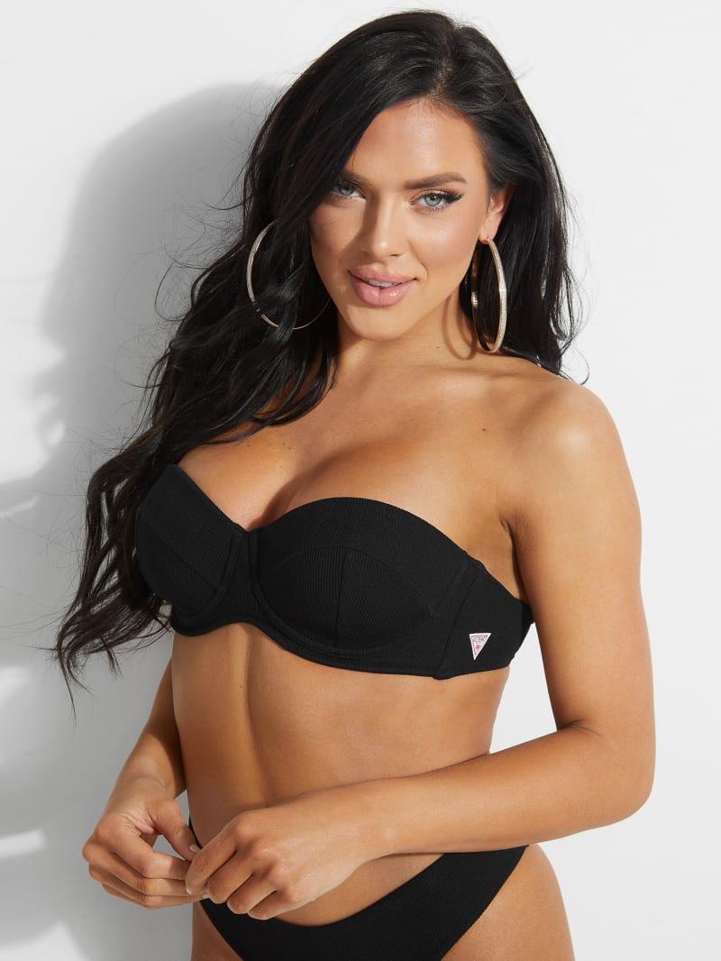 Ribbed Balconette Bikini Top