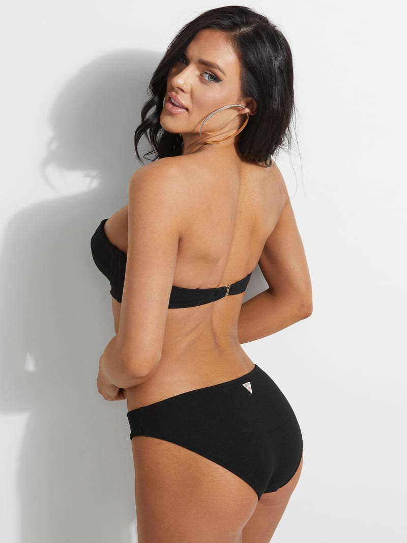 Ribbed Balconette Bikini Top | GUESS