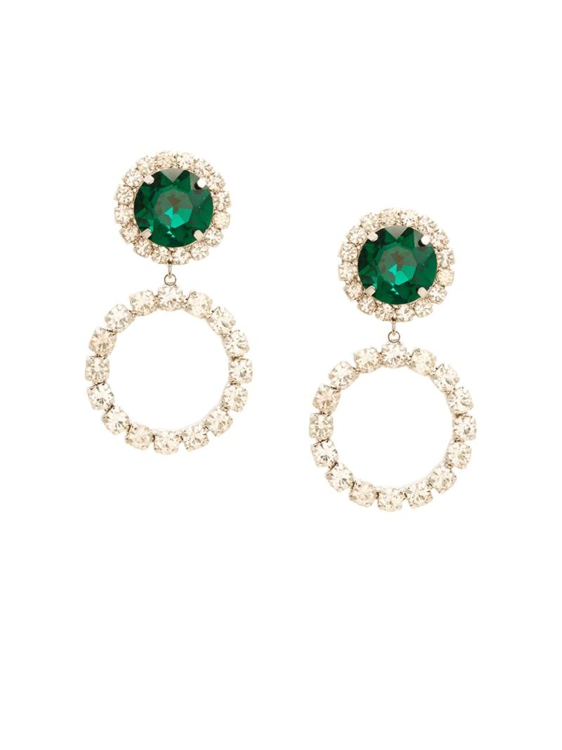 Rhinestone Emerald Earring