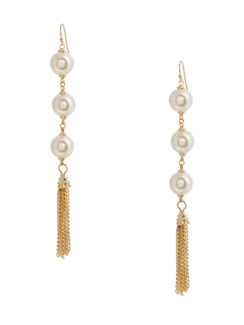 14KT Pearl Tassel Earring