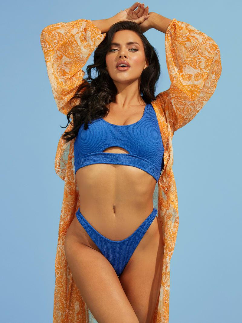 Scrunch Cutout Bikini Top