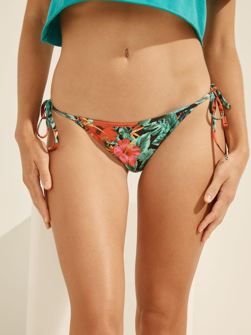 Bas de maillot de bain tropical en string