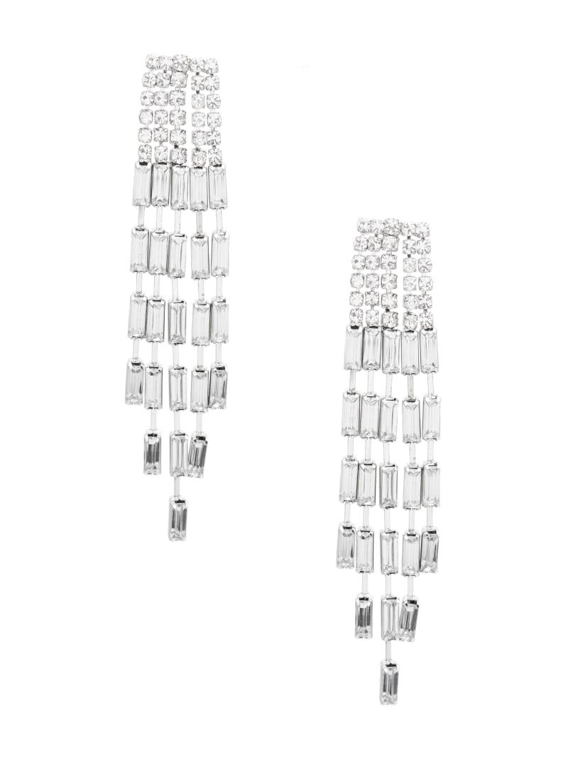 Baguette Rhinestone Fringe Earring