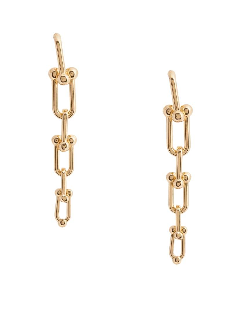 14KT Ball Chain-Link Drop Earring
