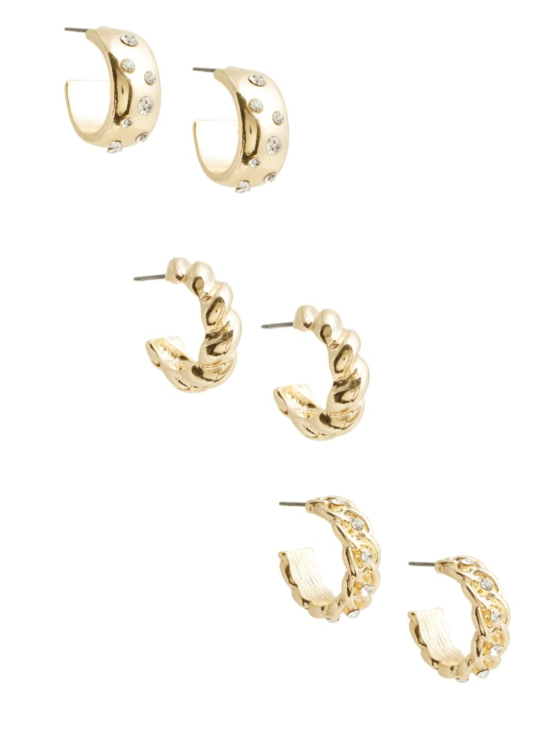 Twisted Hoop Earrings Set