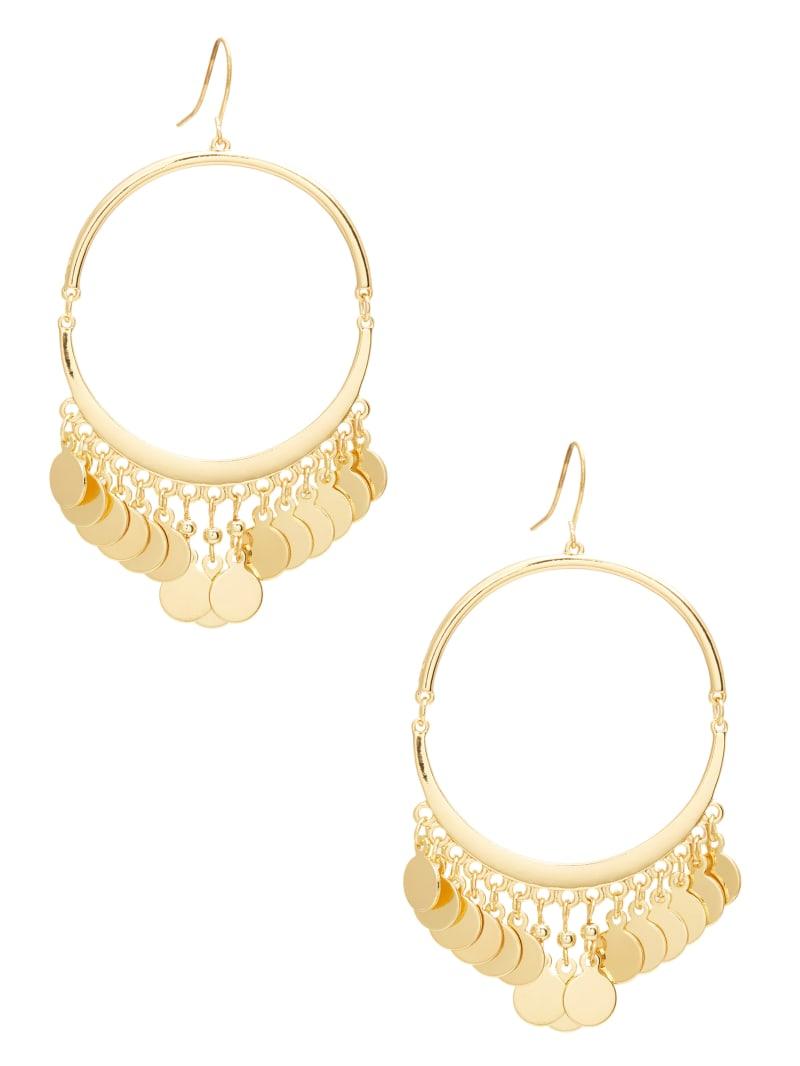Coin Hoop Earring