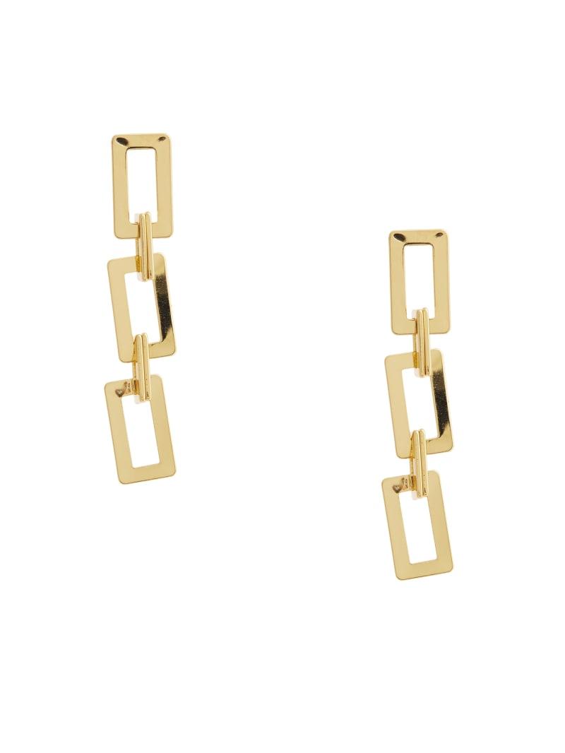 14KT Rectangle Chain-Link Earring