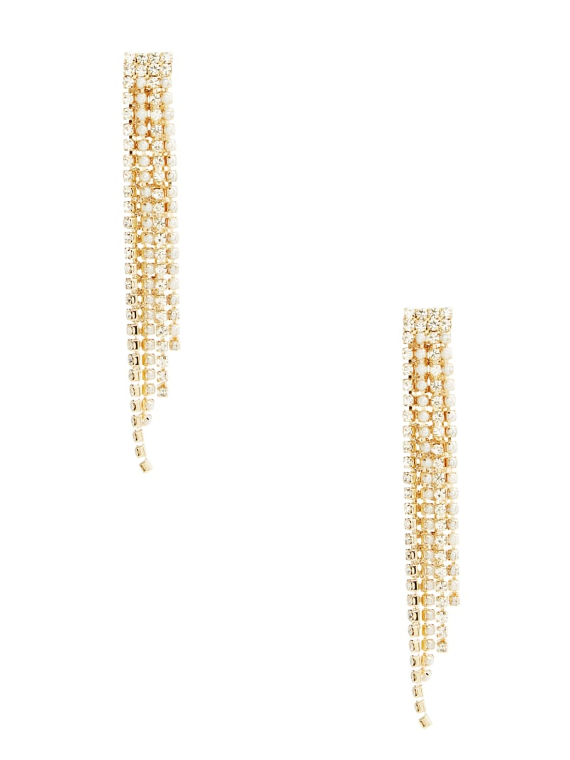 Pearl and Crystal Fringe Earring