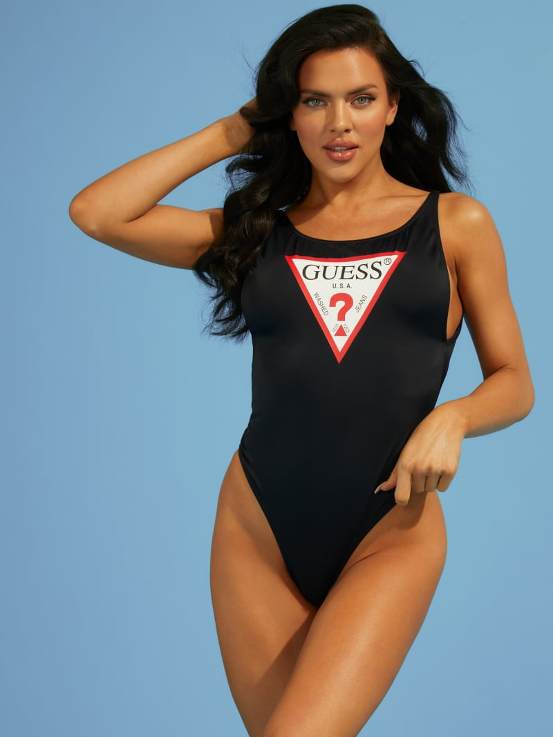 One-Piece Logo Swimsuit