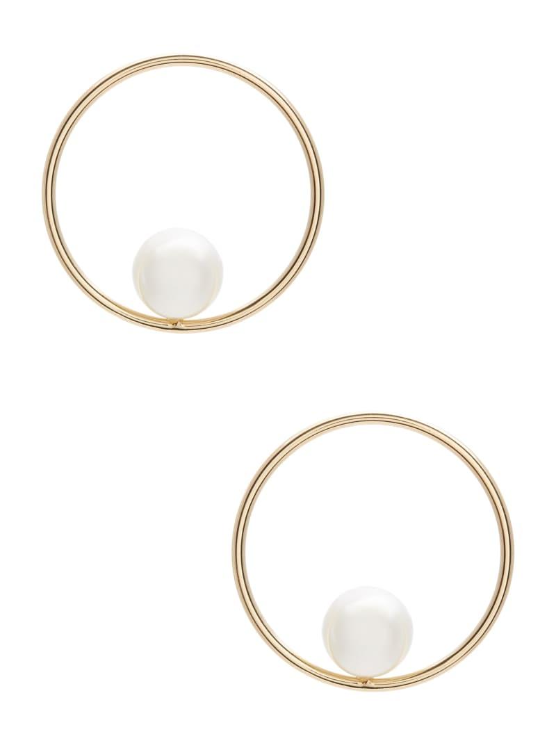 Gold-Tone Gumball Pearl Earring