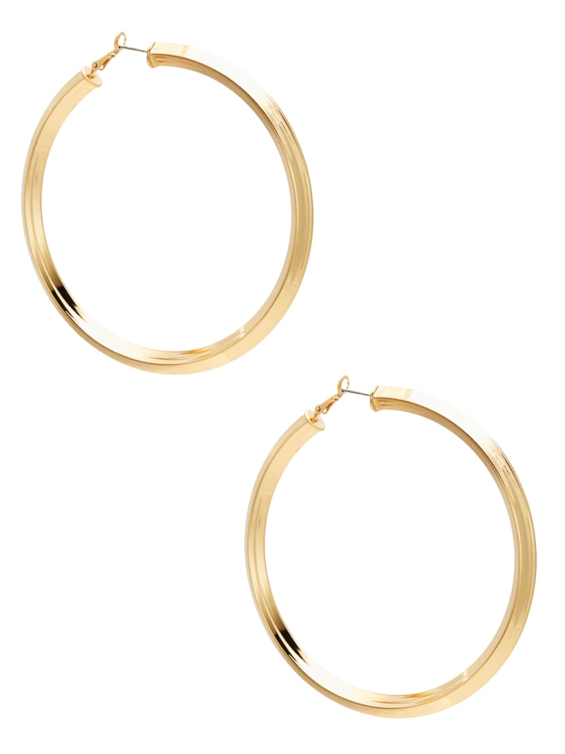 Large Tubular Hoop Earrings