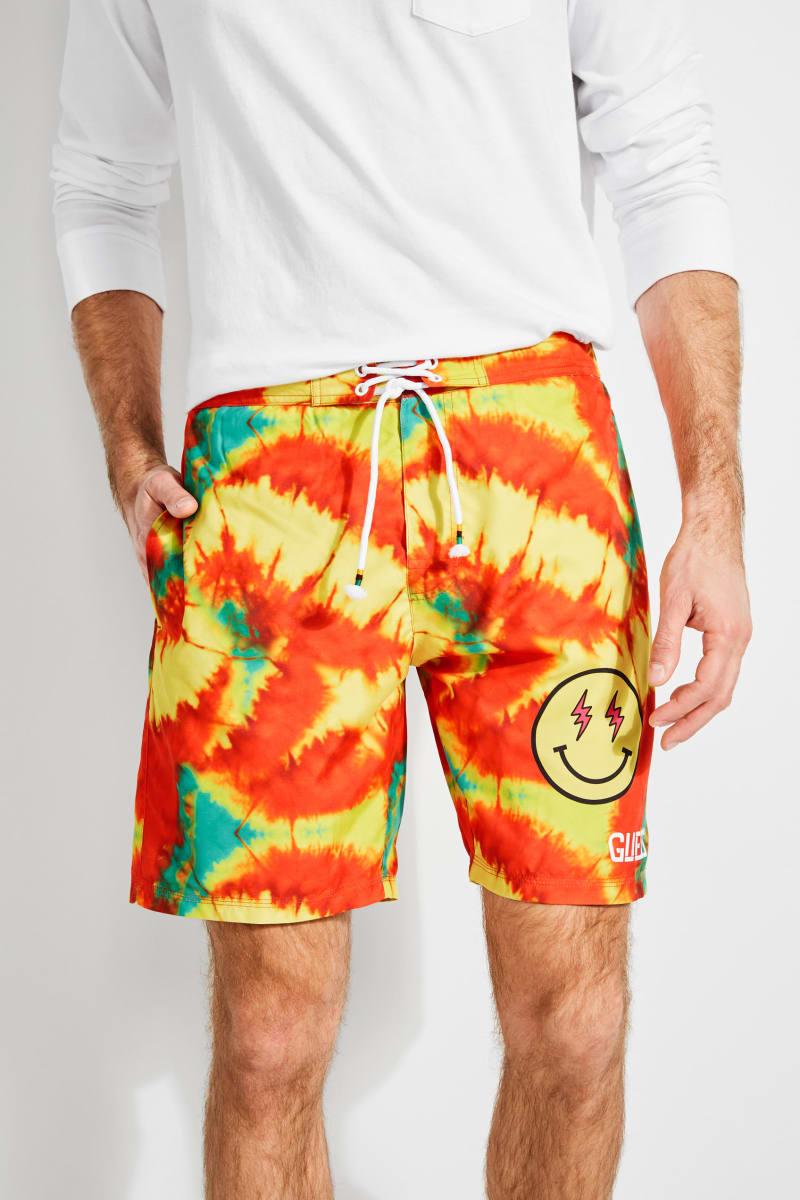 GUESS x J Balvin Printed Logo Swim Shorts