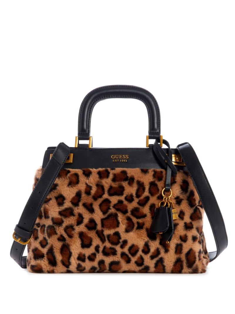 Katey Luxe Leopard Satchel