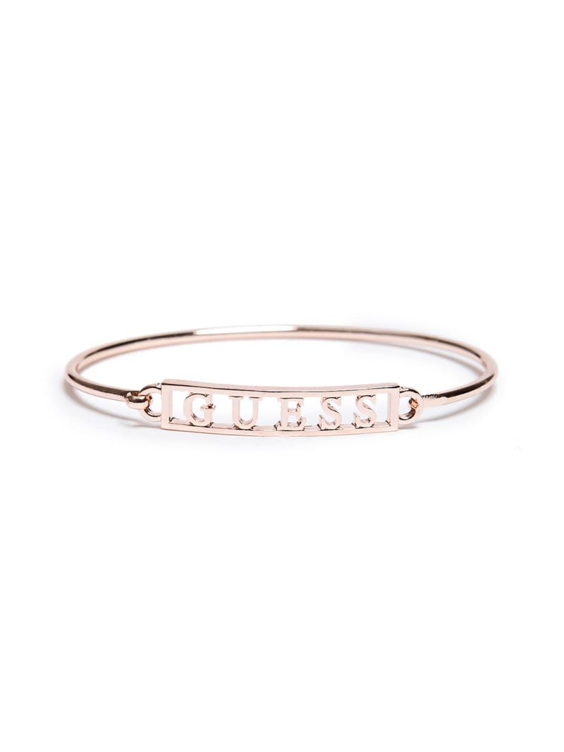 Rose Gold-Tone Logo Bangle
