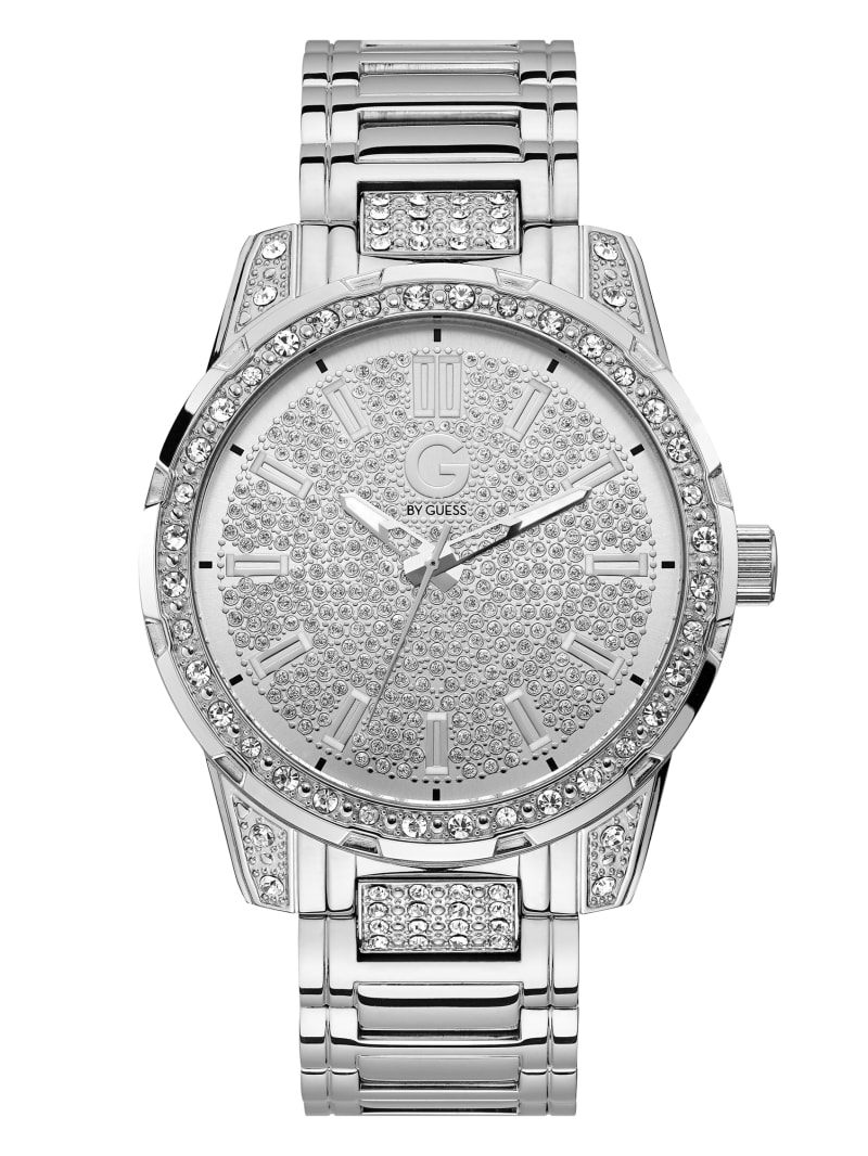 Silver-Tone and Crystal Analog Watch