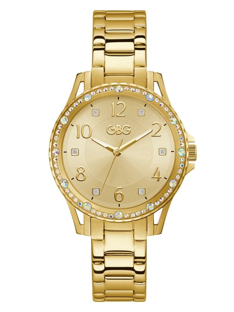 Embellished Gold-Tone Analog Watch