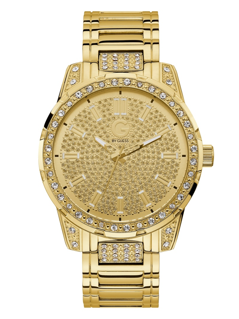 Gold-Tone and Crystal Analog Watch