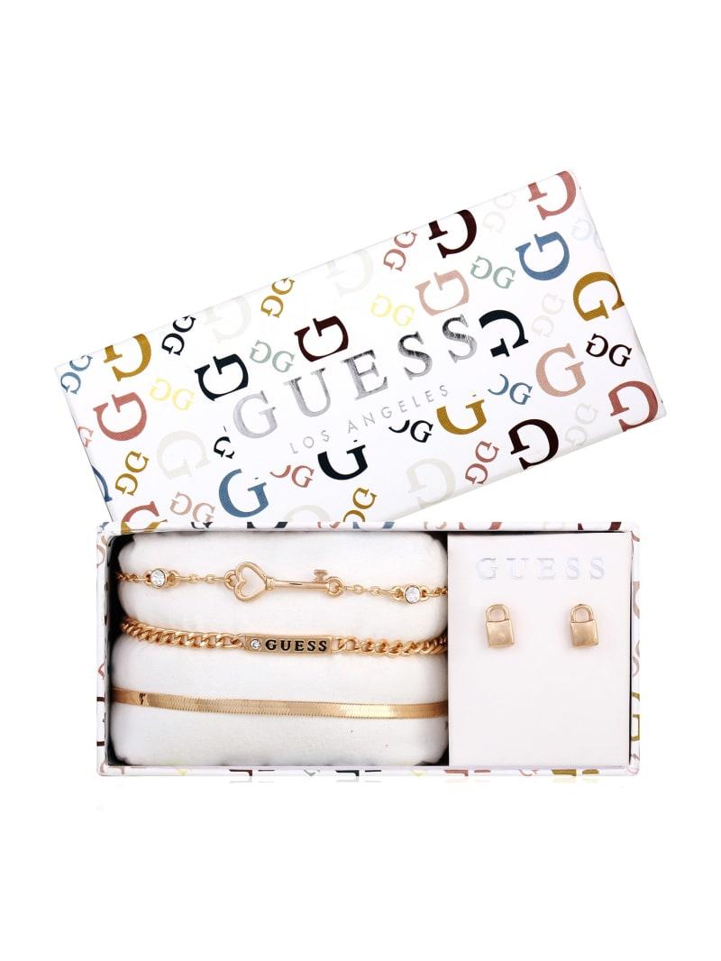 Gold-Tone Logo Link Bracelets and Earrings Box Set