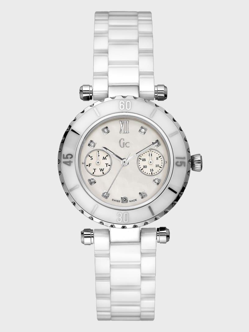 GC DIVER CHIC Diamond Dial White Ceramic Timepiece