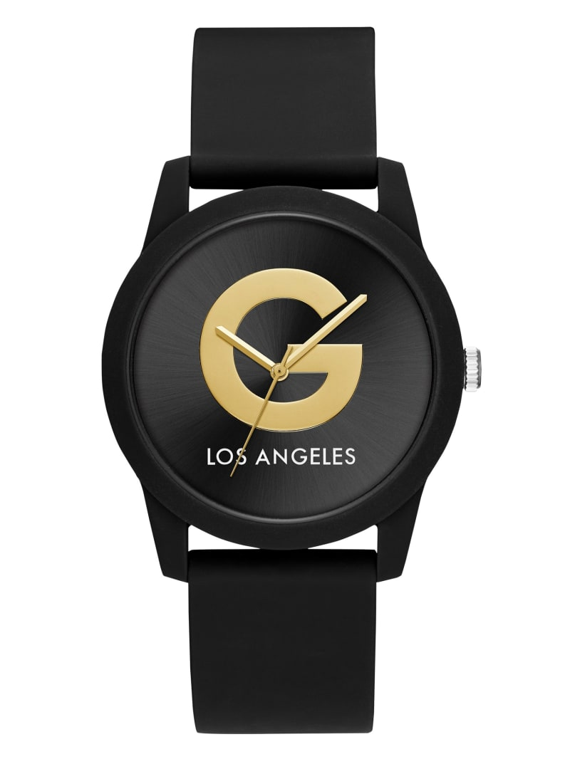 Black & Gold Silicone Watch
