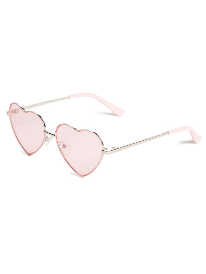 Girl's Pink Heart Sunglasses