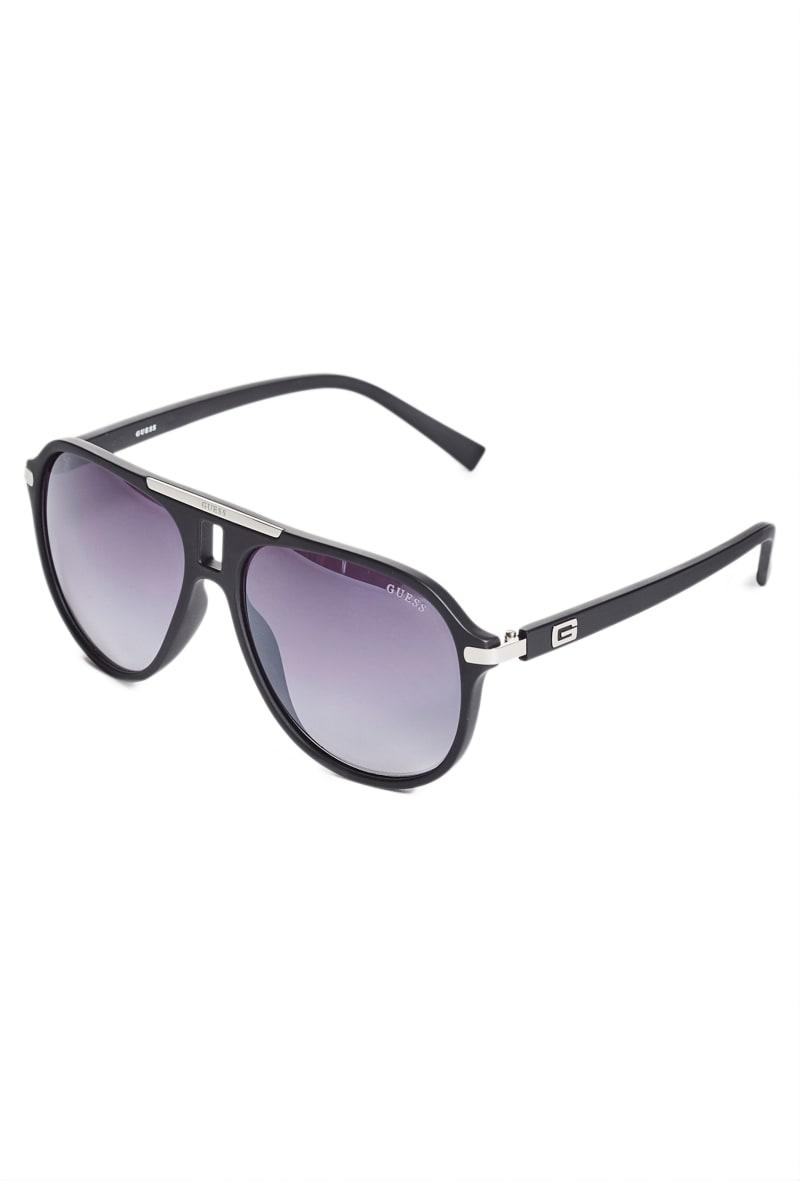 Logo Matte Aviator Sunglasses