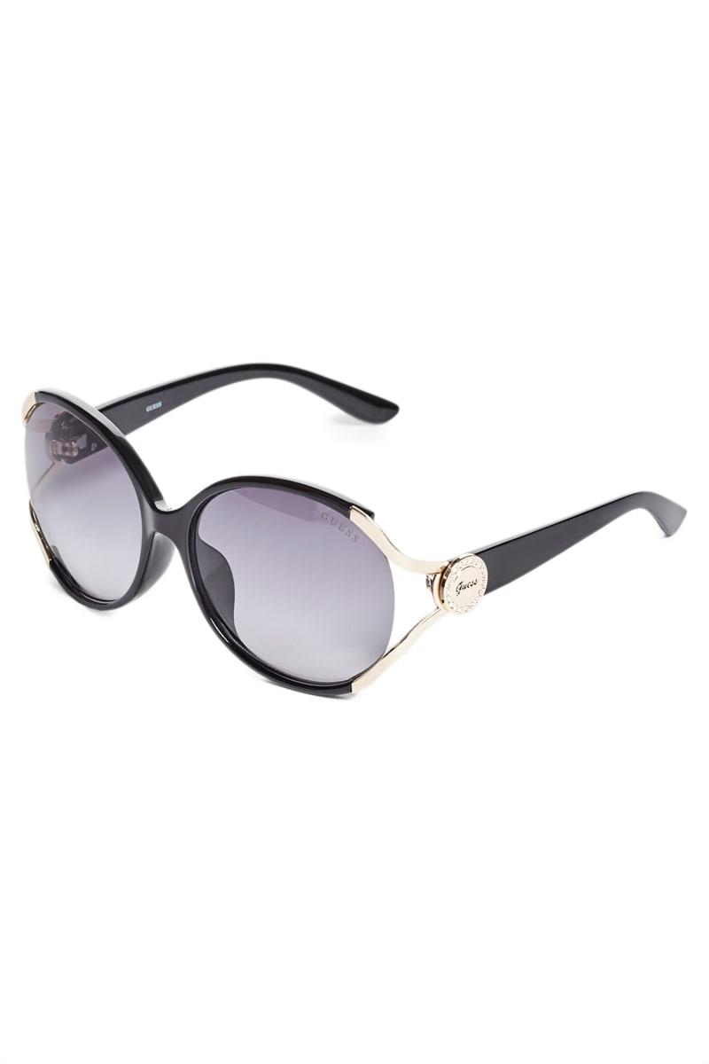 Script Logo Plastic Sunglasses