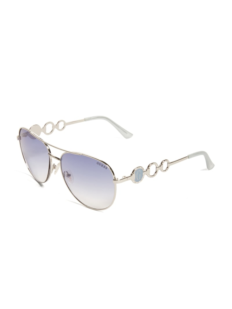 Rhinestone Circle Aviator Sunglasses