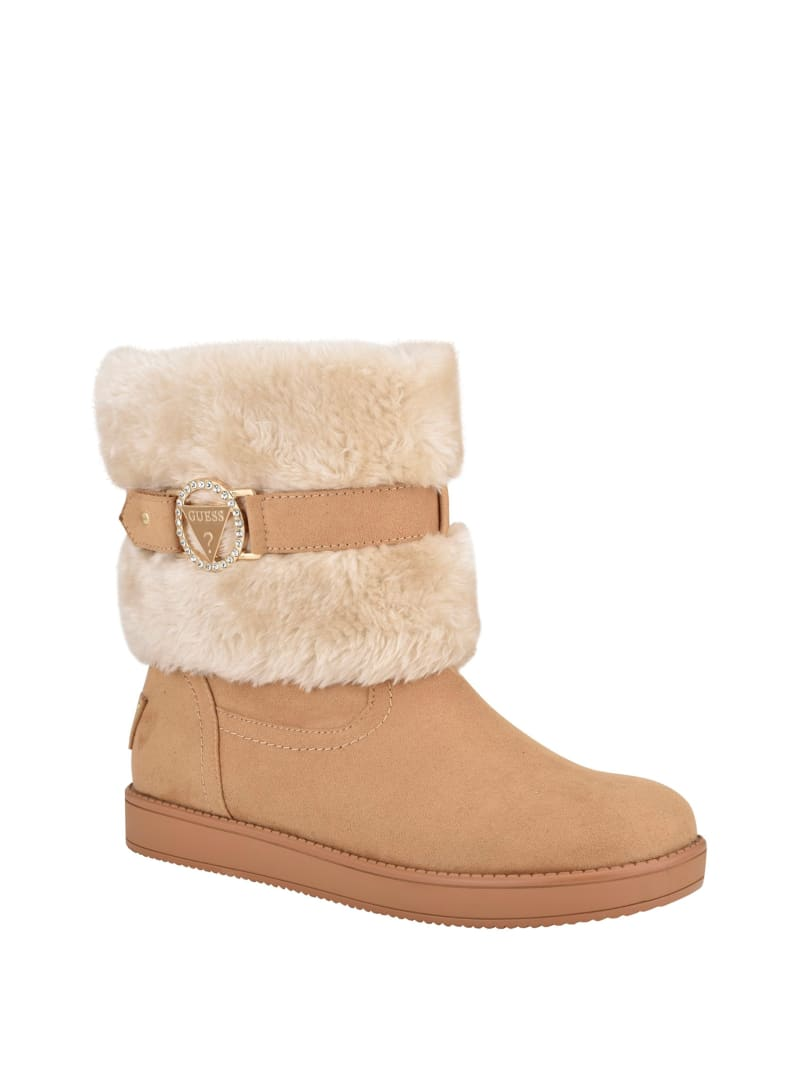 Afters Faux-Fur Cuff Shearling Boots
