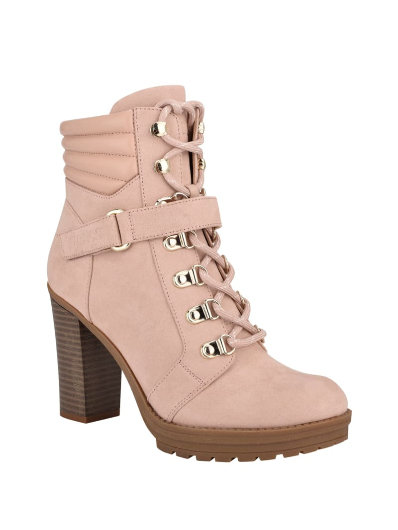 Geralyn Heeled Combat Booties