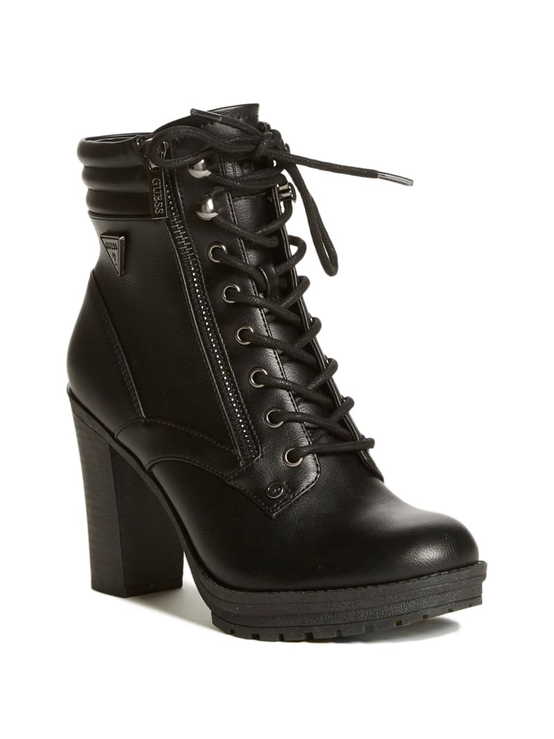Ginette Heeled Combat Boots