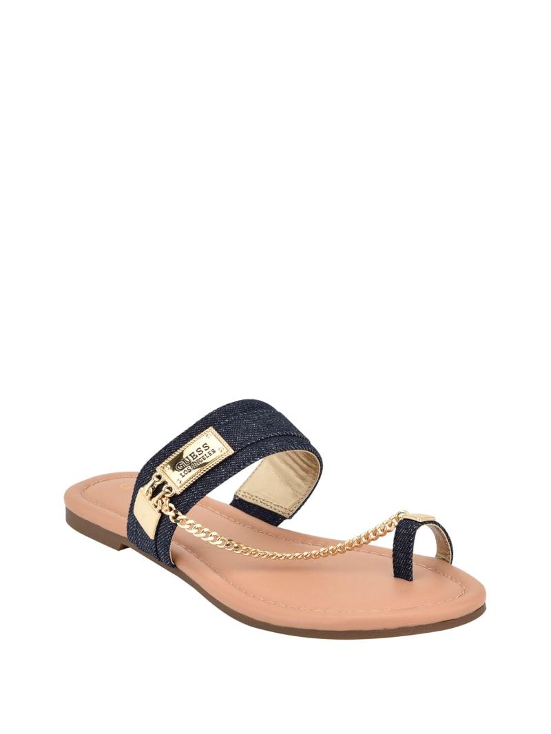Landen Denim Chain Sandals