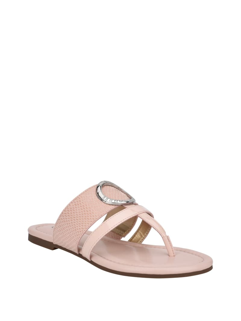 Leni Logo Ring T-Strap Sandals