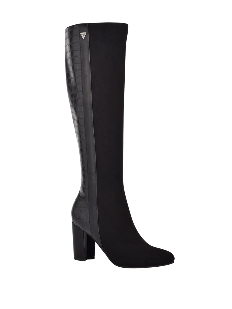 Mendy Tall Suede Croc Boots