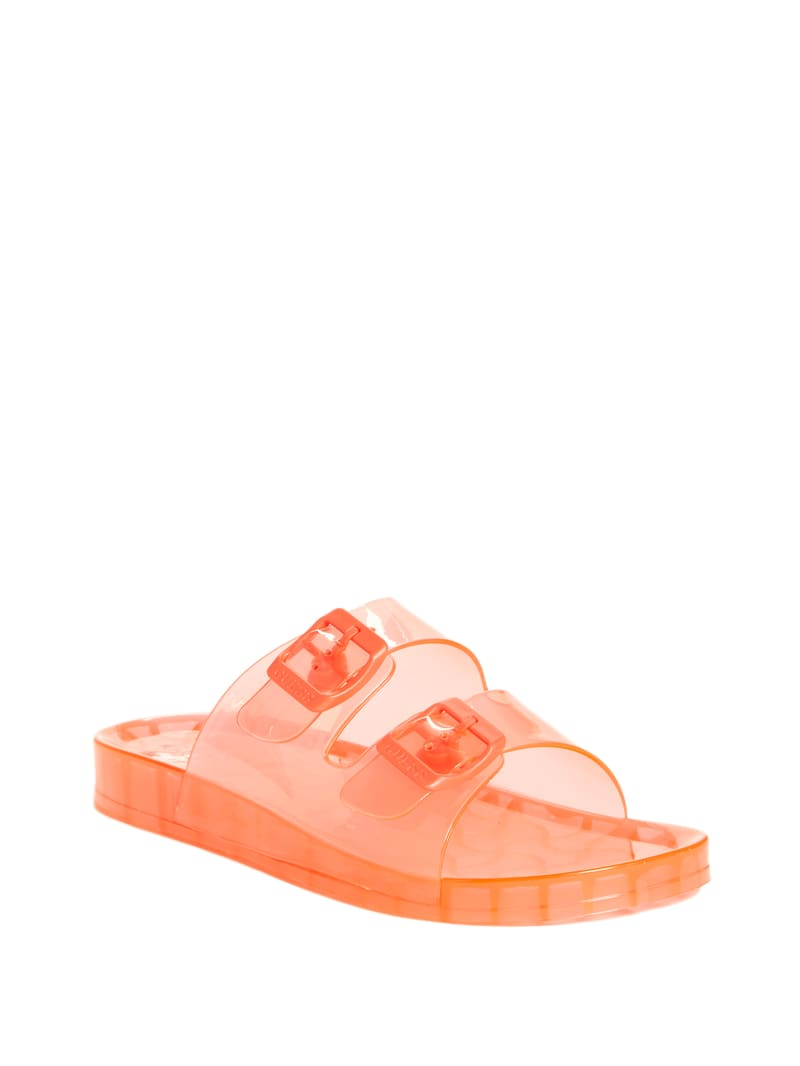 Poppy Jelly Double-Strap Slides