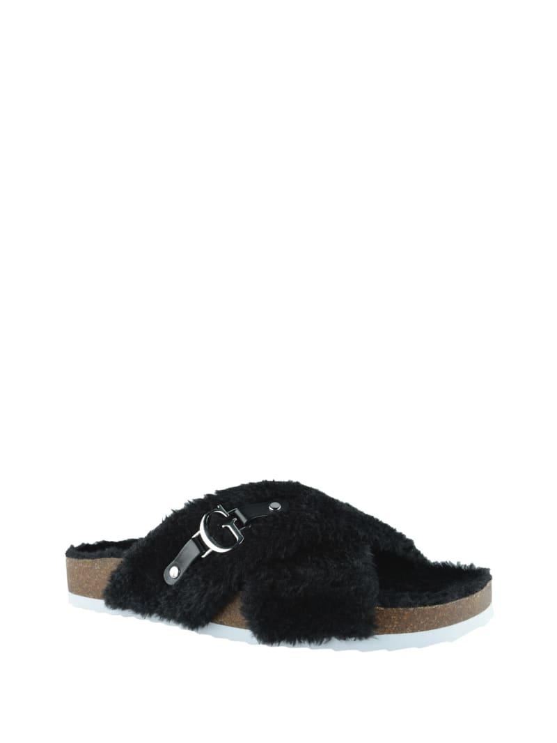 Samie Faux-Fur Sandals