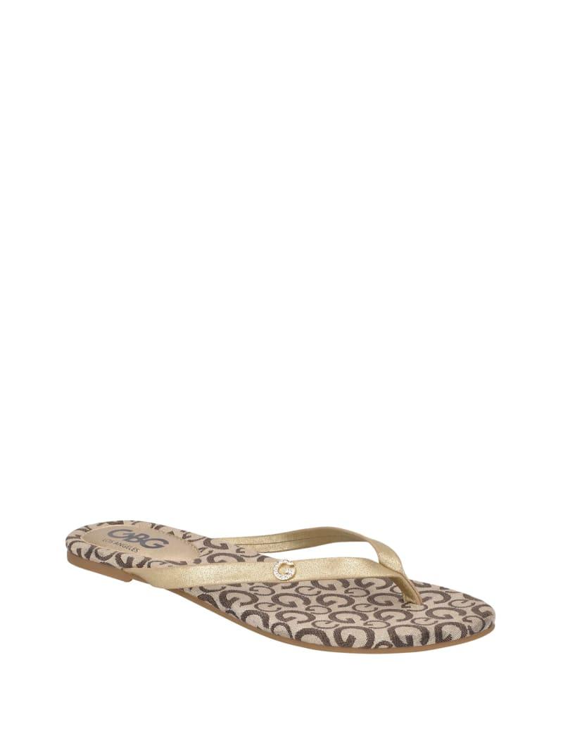 Bayla Gingham Thong Sandals