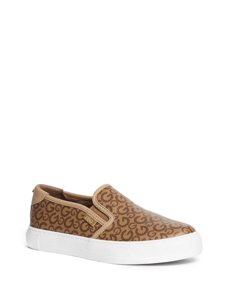 Golly Logo Platform Slip-On Sneakers