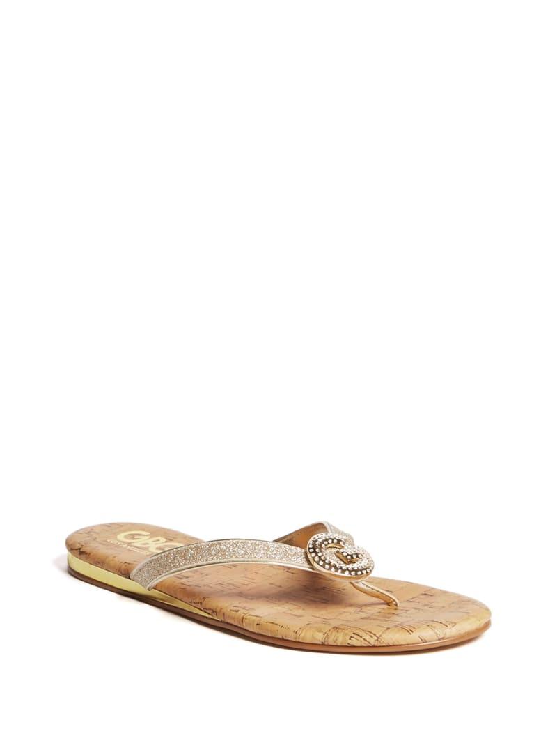 Jamie Rhinestone Logo Sandal