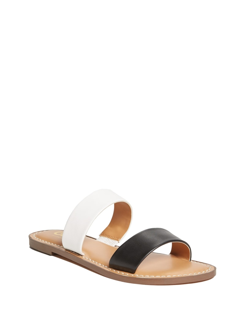 Korine Double Strap Slide Sandals