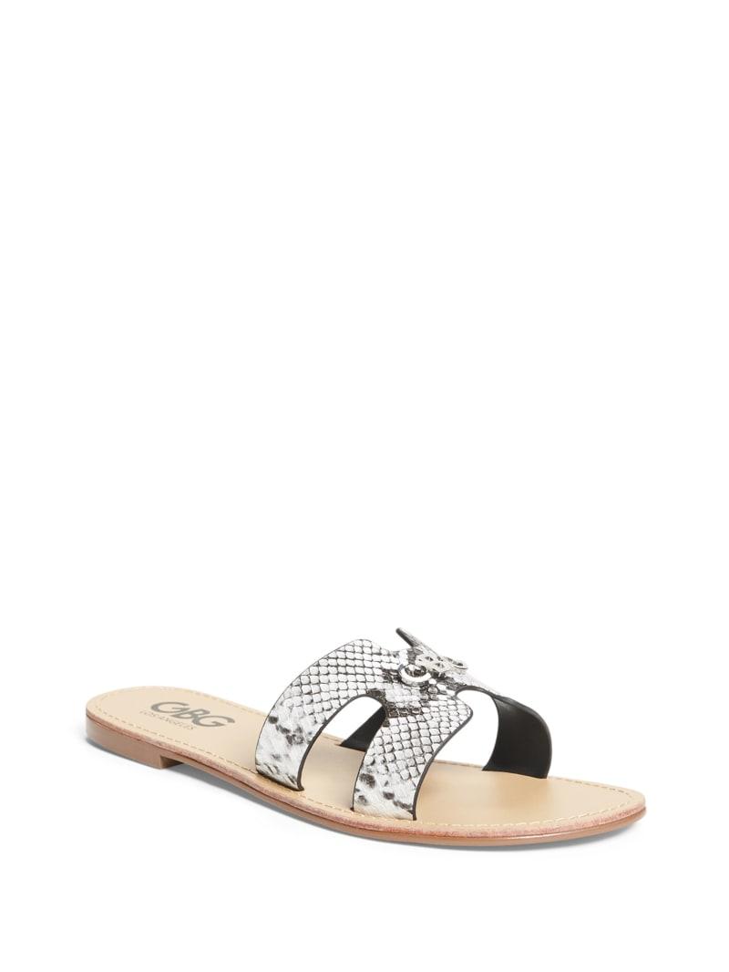 Nina Cutout Logo Slide Sandals