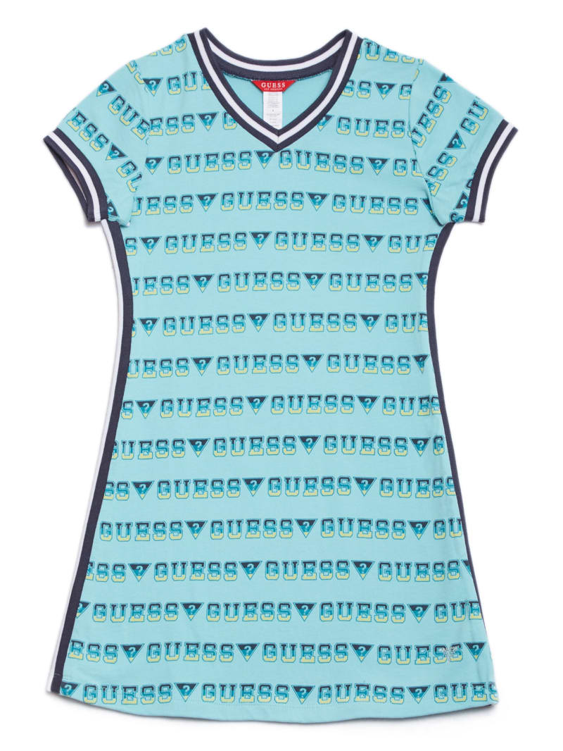 Amanda V-Neck Logo Dress (7-16)