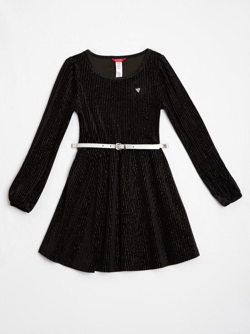 Velour Belted Dress (7-14)