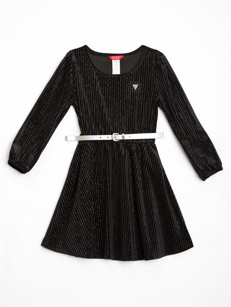 Velour Belted Dress (2-7)