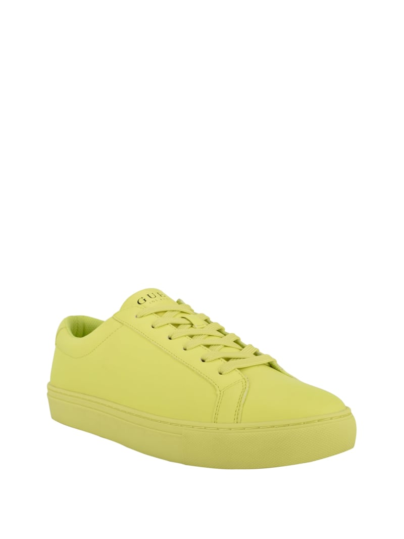 Neon Quilted Low-Top Sneakers